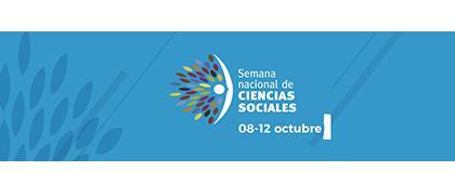 Cartel informativo sobre la Semana Nacional de Ciencias Sociales, Del 8 al 12 de octubre: