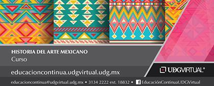 Cartel informativo sobre el Curso: Historia del arte mexicano, Inicio: 16 de octubre