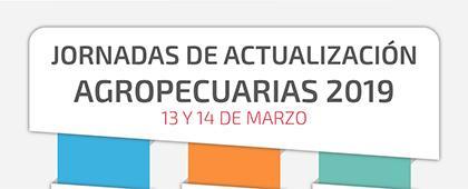 Cartel informativo de las Jornadas de Actualización Agropecuarias 2019. Fecha límite 14 de marzo, Invitan Centro Universitario de los Altos.