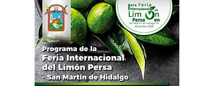 Cartel informativo sobre la Feria Internacional del Limón Persa – San Martín de Hidalgo, el día 28 de abril, de 10:00 a 20:00 h.  en San Martín de Hidalgo, Jalisco