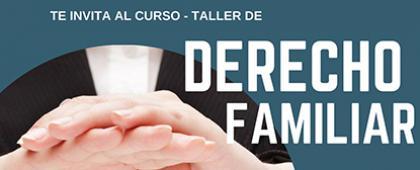 Cartel informativo sobre el Curso-Taller de Derecho Familiar, en CUSur