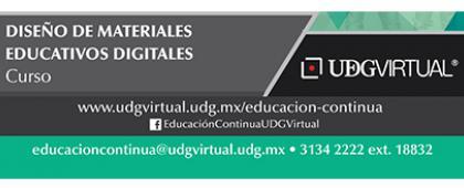 Cartel informativo sobre el Curso: Diseño de materiales educativos digitales