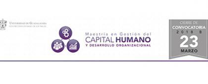 cartel informativo sobre la convocatoria de la Maestría en Gestión del Capital Humano y Desarrollo Organizacional