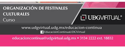 Cartel informativo sobre la convocatoria de Curso: Organización de Festivales Culturales