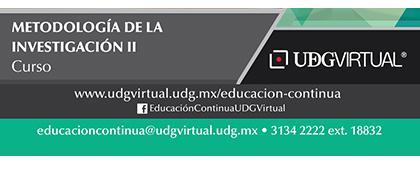 Cartel informativo y de invitación al Curso: Metodología de la Investigación II. Fecha de Inicio: 29 de mayo en UDGVirtual ¡Consulta las bases!