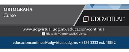 Cartel informativo sobre el Curso: Ortografía Inicia el 16 de octubre