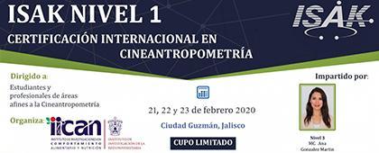 Certificación ISAK nivel 1 en Cineantropometría, con reconocimiento de la Sociedad Internacional para el Avance de la Cineantropometría (ISAK).