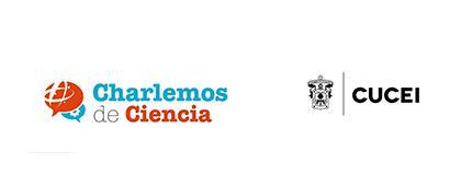 Cartel informativo y de invitación al evento: Charlemos de Ciencia. A realizarse el 23 de febrero; 9 y 16 de marzo; 13, 20 y 27 de abril, a las 11:00 y 12:30 horas. En el Centro Universitario de Ciencias Exactas e Ingenierías.