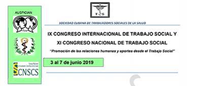 Cartel informativo sobre la Convocatoria para participar en el IX Congreso Internacional de Trabajo Social y XI Congreso Nacional de Trabajo Social