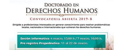 Cartel informativo sobre el Doctorado en Derechos Humanos