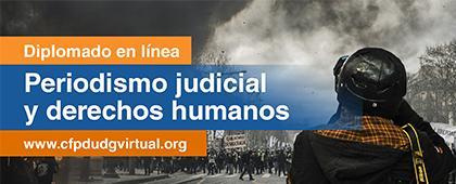 Cartel informativo del Diplomado en línea: Periodismo judicial y derechos humano, fecha límite de inscripción: 8 de septiembre