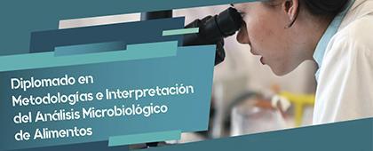 Diplomado en Metodologías e Interpretación del Análisis Microbiológico de Alimentos. Del 31 de enero al 29 de agosto de 2020.