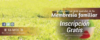 Cartel informativo sobre: Disfruta con tus seres queridos de la membresía familiar del Club Deportivo de la Universidad de Guadalajara