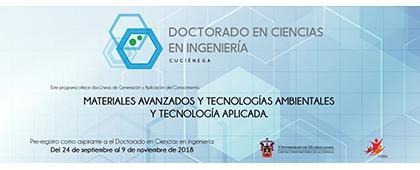 Cartel informativo sobre el Doctorado en Ciencias en Ingeniería, Periodo de prerregistro: Del 24 de septiembre al 9 de noviembre