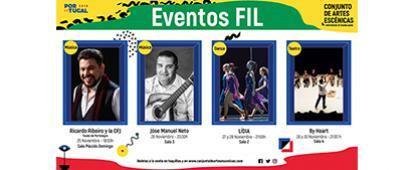Cartel informativo sobre los Eventos FIL