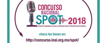 Cartel informativo sobre el Concurso Nacional de Spot de Radio 2018