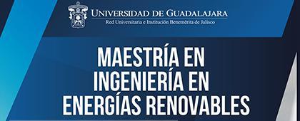 Cartel informativo sobre la Maestría en Ingenierías en Energías Renovables