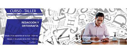 Cartel informativo sobre el Curso-taller: Redacción y ortografía