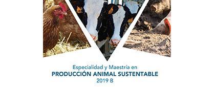 Folleto informativo de la Especialidad y Maestría en Producción Animal Sustentable 2019. Periodo de registro del 4 de junio al 3 de julio. Invitan Centro Universitario de los Altos (CUAltos)