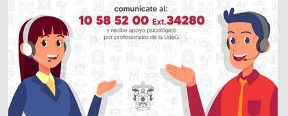 Apoyo psicológico a la Red Universitaria UdeG