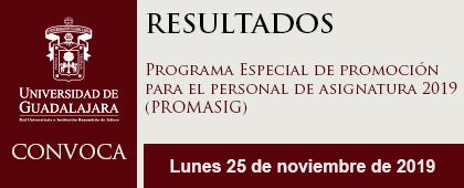DESCARGAR (RESULTADOS) Programa Especial de Promoción para el Personal de Asignatura PROMASIG 2019