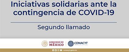 Convocatoria: Segundo llamado a iniciativas solidarias ante la contingencia de COVID-19