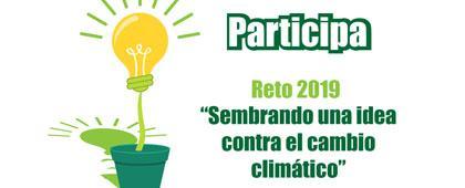 Identidad gráfica para promocionar la convocatoria Sembrando una idea contra el cambio climático
