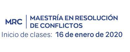 Identidad gráfica para anunciar la Maestría en Resolución de Conflictos