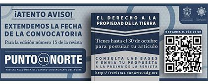 """Participa en la Revista Punto CUNorte, número 15 bajo el tema """"El derecho a la propiedad de la tierra"""""""