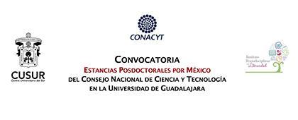 Estancias Posdoctorales por México del Conacyt en la Universidad de Guadalajara