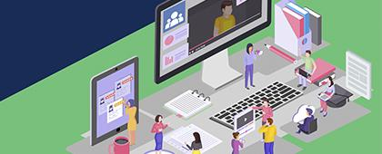 Grupos de apoyo a alumnos y profesores que estudian e imparten clases en línea