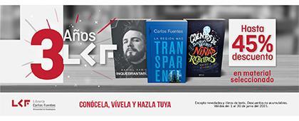 Promoción de la Librería Carlos Fuentes para el mes de junio