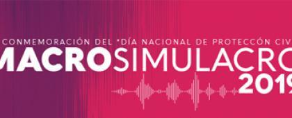 Cartel informativo para promocionar el Participa en el Macrosimulacro 2019