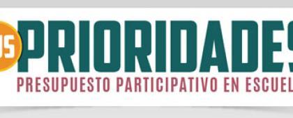 Cartel informativo para promocionar la convocatoria Tus prioridades, presupuesto participativo en escuelas