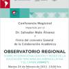 Cartel invitación del evento