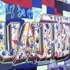 """Grafití colorido """"Jardín de niños Cuauhtemoc"""""""
