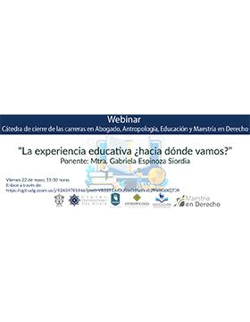 """Webinar """"La experiencia educativa ¿hacia dónde vamos?"""""""