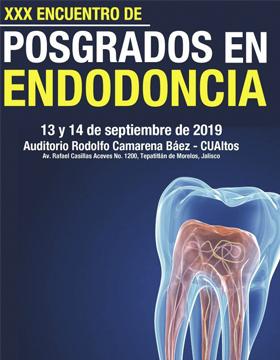 Cartel informativo para promocionar el Encuentro de Posgrados en Endodoncia que desarrollará el 13 y 14 de septiembre